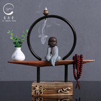 Fragrance Lamps Backflow Incense Burner Holder Dragon Arabic Style Stick Gothic Decor Wierook Houder Ceramic Candle
