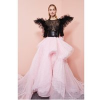 Chic Pink Lace Asymmetrical Long Women Dresses To Formal Event Party Sexy See Thru Top Full Sleeves Prom Gowns Casual