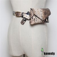 Waist Bags Women Fanny Pack Vintage Serpentine High Quality PU Leather Phone Pouch Fashion Snake Skin Bag Messenger