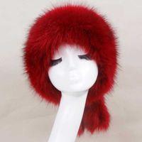 Zadorína Rusa 2020 Invierno Moda Mujeres Grueso Cálido Mullido Falso Feleado Auricular Auricular Rusia Sombrero de esquí Sombreros Para Mujeres Gorra Soviética