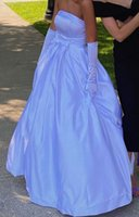Long Blue Satin Prom Dresses Good Quality A Line Strapless Holidays Party Gowns Tailor Made Plus Size Available