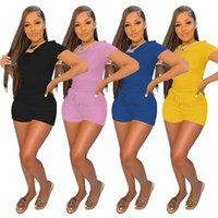 Vulk Womens Sportswear Two Pieces Set Tracksuits Été Femmes Vêtements Courts Souris Shorts Tentures Top Dames Pantalons Contact 2021 Type Vente KLW6544