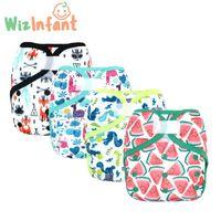 Wizinfant Eco-Friendly Ткань Подгузник Крышка Детские Моющиеся Двухместные Водонепроницаемые подгузники Reasable Регулируемые карманные подгузники