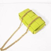 Factory Bottage BUs Small women's waist leather advanced sense Messenger Bag Fashion ins French niche woven bag BU crossbag b handbag