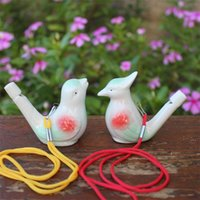 Novelty Items Creative Water Bird Whistle Clay Ceramic Glazed Song Chirps Bathtime Kids Toys Gift Christmas Party Favor FWA6048