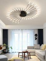 Ceiling Lights Nordic Luxury Led Spiral Fireworks Designer Lamp Living Room Home Decor Bedroom Dandelion Light Fixtures