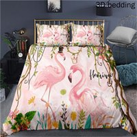 Flamingo a Popular Animal Abroad 3D Printing Colorful Bedding Sets Duvet Cover