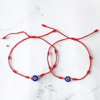 Charm Bracelets Evil Eyes Are Suitable For Both Men And Women Handmade Red Braided Rope Amulet