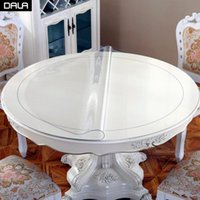 Table Cloth Round Transparent PVC Tablecloth Waterproof Plastic Cover Cloths Mat For Home Decoration Dining Placemat