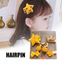 Hair Clips & Barrettes 5 PCS Kids' Set Cute Baby Hairpins With Different Decor Korean Style Hairs Accessory For Girls Daily NYZ Shop