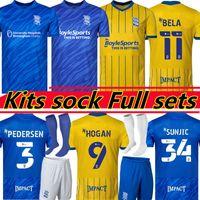 21/22 Бирмингем футбол для футбола Lukasz Jutkiewicz 2021 2022 Sam Gallagher Jersey Men Kids Kits Sock Full Sets Home And Городские футболки