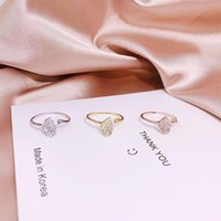 Cluster Rings Real 925 Sterling Silver Luxury Openable Exquisite Dazzling Moissanite Charming Shiny Ring Women Enchanting Apricot Leaf