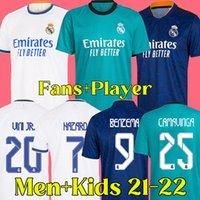 21 22 Real Madrid Fußballtrikot 2021 2022 RMFC Real Madrid Fußballtrikot Fans und Player-Version Männer- und Kinder-Kits BENZEMA ALABA HAZARD KROOS MODRIC ISCO ASENSIO MARCELO