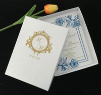 Поздравительные открытки Золотые ящики логотипа для акриловых свадебных приглашений, приглашения на 10 шт., Приглашения на вечеринку, приглашения на заказ