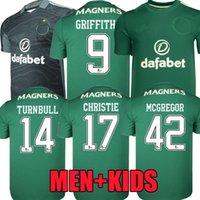 Вентиляторы Игрок версия 21 22 Сельтский футбол для футбола Green McGregor Griffiths 2021 2022 Forrest Christie Edouard Elyounoussi Tricbull Men Kids Kits Футбольные рубашки