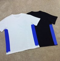 19SS Tasarımcı Erkek T Gömlek Kısa Kollu O-Boyun Pamuk Spandex erkek Gömlek Ince Yumuşak Erkek T-shirt Boyutu M ~ 2XL