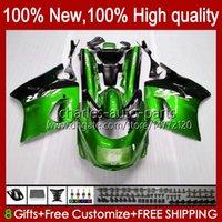 Corpo per Kawasaki Ninja ZX-11 R ZZR-1100 ZX-11R ZX11R 90 91 92 93 94 95 30HC.70 Metal Green ZZR 1100 CC ZX 11 R 11R ZX11 R ZZR1100 1996 1997 1998 1999 2000 2000 Kit carenatura