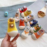 First Walkers Baby Shoes Toddler Walker Boys Girls Kids Rubber Soft Sole Floor Knit Booties Anti-Slip Cartoon