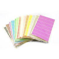 인사말 카드 28560pcs / 로트 직경 0.6cm 빈 다채로운 자체 접착 라운드 스티커 봉투 패키지 선물 종이 씰링 레이블 476pcs / 그녀