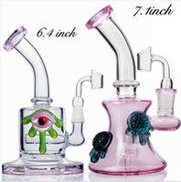 Heady Dab rigs 물 담뱃대 두꺼운 유리 물 봉포 Bubbler 보라색 재활용 봉 치챠 14mm 조인트 흡연 액세서리 Shisha Bongglass