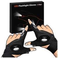 LED torch gloves, cool gadgets for handyman, fishing, maintenance and outdoor activities in dark spaces
