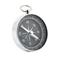 Outdoor Gadgets 2PCS Portable Compass Metal Keychain Aluminum Crafts Light Weight Hanging Pendant Easy Carry For Mountaineering Camping