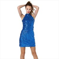 Stage Wear Arrival Sexy Fashionable Latin Dacing Dress Women Performance Dance Clothing Sleeveless Tight Sequines Costumes