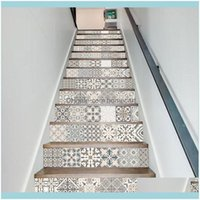 Wall Décor & Garden13Pcs Set Nordic Stairway Decal Stickers Self Adhesive Riser Floor Stairs Decoration Diy Waterproof Pvc Home Decor Mandal