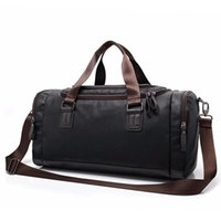 Duffel Bags 2021 Outdoor Travel Bag Black PU Leather Hiking Hand Luggage For Men Duffle Large Capacity High Quality