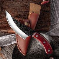 Chun Slaughter Skining Boning Knives 전문 주방 정육점 Cleaver 요리사 물고기 고기 절단 요리 나이프 PU 칼집