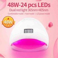 Tırnak Kırmızı Işık Jel LED UV Tırnak Lambası 48 W Sensörü Ile Nail Art Araçları Manikür Silikon Alt 30 S / 60 S Zamanlayıcı 48 Watts Siminail C0428