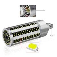Bulbos E27 54W AC100-277V 2835 Sem tampa da lâmpada Fan refrigeração 296 Lâmpada de milho LED para loja Home Factory DropLight Street Spotlight