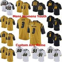 NCAA College Jerseys Missouri Tigres 4 Jonathan Nance 5 Taylor Powell 5 Terry Beckner Jr 56 Shane Ray 19 Jack Futebol Personalizado Costurado