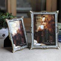 Quadrato Desk di lusso PO Frame Metallo Famiglia Vintage Home Decor Retro Quadros Decorativos Wall BK50SK Frame