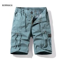 Ruppshch Hommes Summer Casual Outdoor Militaire Pocket Pantalon Pantalons Shorts Mode Twill Coton Camouflage Hommes