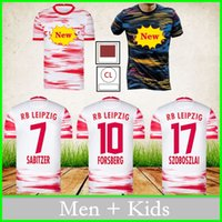 Leipzig Futebol Jerseys RB 2021 2022 Forsberg Sabitzer Poulsen Szoboszlai Upamecano Home Away Terceiro Futebol Camisa Adulto Homens + Crianças Uniforme