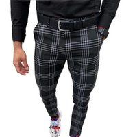 Men's Pants Men Korean Muti-color Plaid Casual 2021 Mens Streetwear Harem Male Checkered Trousers Plus Size