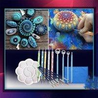 Nail Art Kits 20pcs DIY Tool Set Handwork Craft Clay Painting Embossing Mandala Dotting Stencil Drawing Pottery Stylus G3M6