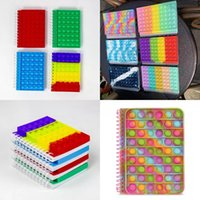 Rainbow Notebook Party Favor A5 Push Bubble Cover Notebooks School Stationery Kids Girls Boys Christmas Gift Toys