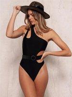 Stück Badebekleidung Mode Natürliche Farbe Badebekleidung Sexy Aushöhlen Out OUT Eine Schulter Badeanzug Frauen Kleidung Frauen Designer Eins