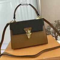 Luxury Designer Shoulder Bag Ladies Messenger Evening Dress Leather Material All-match Diagonal Handbag Fashion Natural Style 53662