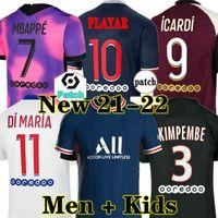 20 21 22 PSG camiseta de fútbol 2019 2020 2021 2022 ICARDI camisa Paris Saint Germain NEYMAR JR MBAPPE soccer jerseys camisa Survetement futebol kit CHAMPIONS camisa de futebol