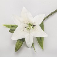 Decorative Flowers & Wreaths 5 Heads Artificial Lily PU Real Touch Wedding Decoration Fake Home Plants
