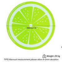 جديد جولة سيليكون الشمع dab حصيرة سيليكون dabbing حصيرة الليمون تصميم غير عصا dabber ورقة dab عشب الشمع النفط DHE6322