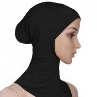 10 PC Donne Hijab Bone Bone Bod Cap ISlamica Sciarpa morbida ISlamica Cover Full Cover Inaderscarf Neck Head Cappello Cappello Cappello ISLAMICA Head Wear Y0911
