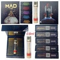 Новые Mad Labs Topizers Tape Cartridsages Упаковка 0.8 мл Тележки Керамические катушки Пустые вершины Патрои для картриджа толщиной маслом. 510 Нить