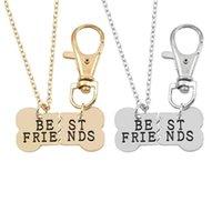 Pendant Necklaces 2021 2 Pcs Set Pet Friends Choker BFF Spliced Into Dog Bones For Women Key Chain & Pendants Selling