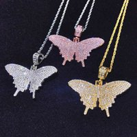 6cm alloy butterfly pattern Pendant Necklace with 65CM Twist chain or 45cm Cuban Link for Fashionable woman and Girlfriend accessories