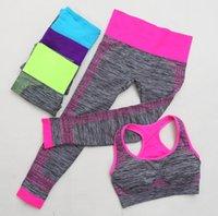 Женская йога набор женщин спортивных наборов набор урожайных топов + йога легающие капри Тапри пансионов женские спортивные трексуиты фитнес тренажерный зал беговые одежды 2 шт.