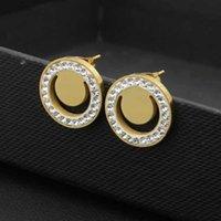 Altın Gümüş Gül Renkler Sevimli Boyutu Klasik Tarzı Çamur Matkap Elmas Takı Taş Çiviler Paslanmaz Çelik Moda Küpe Kadınlar Için Parti Hediyeler Toptan